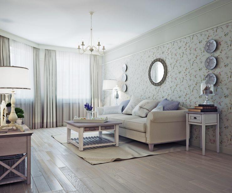 Гостиная в стиле Прованс Анна Теклюк Гостиные в эклектичном стиле
