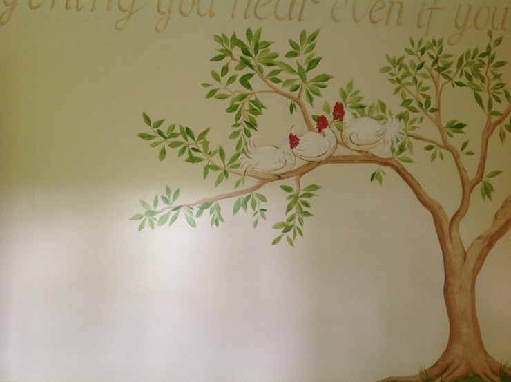 Handmade Wallpaper- Aesops Fables Eades Bespoke Спальня в классическом стиле