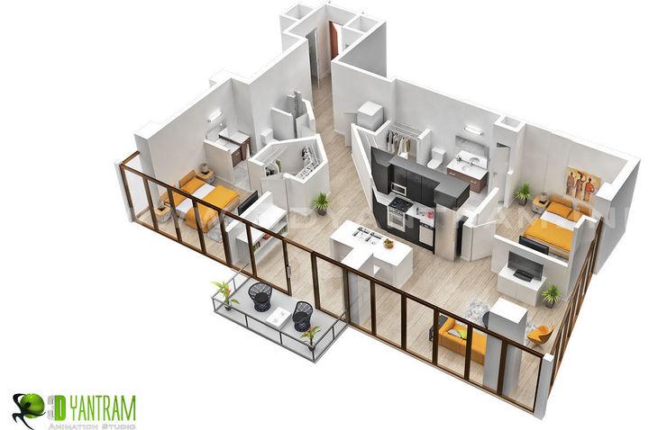 Residential 3D Floor Plan Yantram Architectural Design Studio