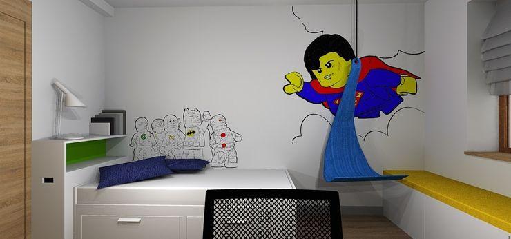 Dom pod Wrocławiem Kraupe Studio Minimalistyczny pokój dziecięcy