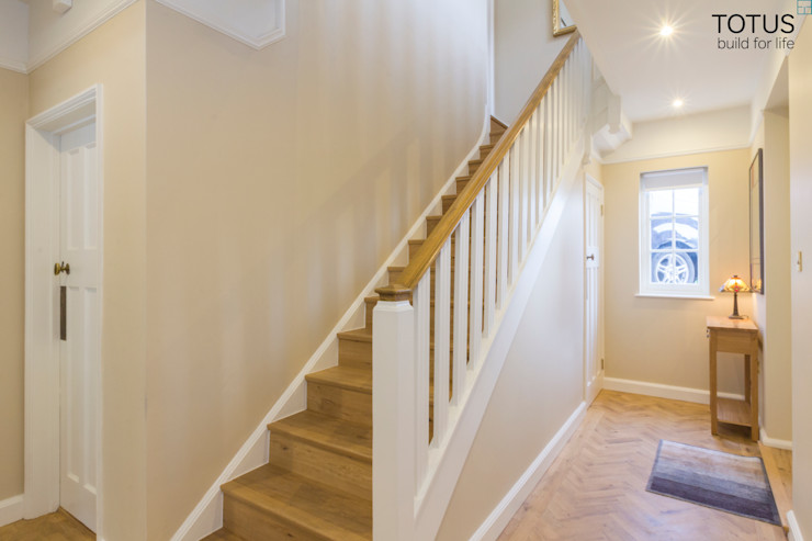 House extension and transformation, Wandsworth SW18 TOTUS Country style corridor, hallway& stairs