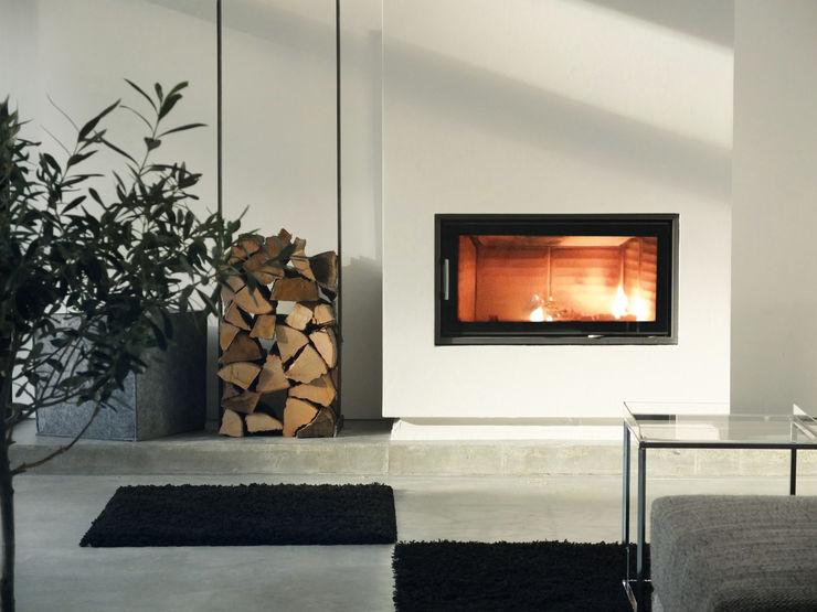 qbus architektur & innenarchitektur 现代客厅設計點子、靈感 & 圖片 White