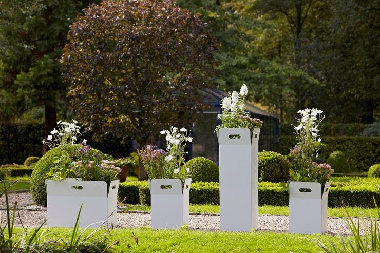 DIRECTIS GartenBlumentöpfe und Vasen Aluminium/Zink Weiß