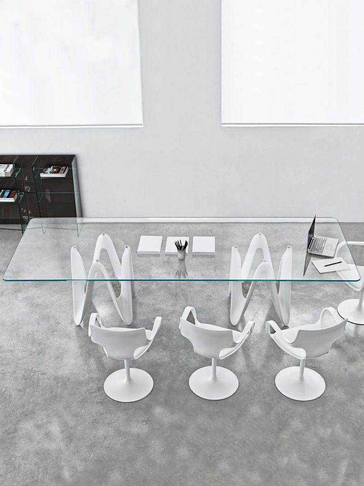 Lambda Glass Dining Table Glassdomain Dining roomTables
