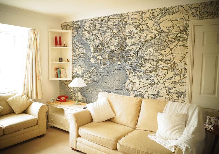Custom Vintage Map Wallpaper Love Maps On Ltd. Стены и полОбои