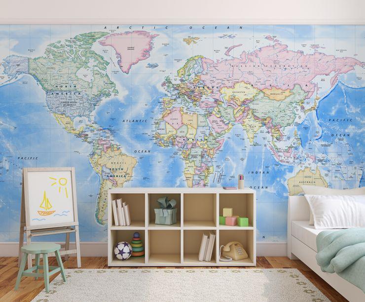World Map Wallpaper Love Maps On Ltd. Nursery/kid's roomAccessories & decoration