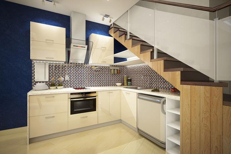 Студия интерьера 'SENSE' Scandinavian style kitchen