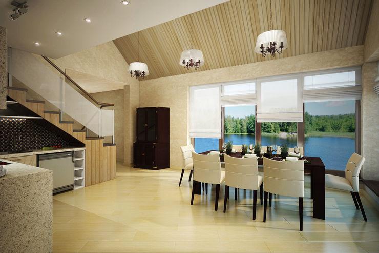 Студия интерьера 'SENSE' Scandinavian style dining room