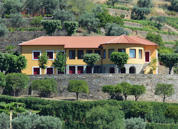 Germano de Castro Pinheiro, Lda Rustic style house Yellow