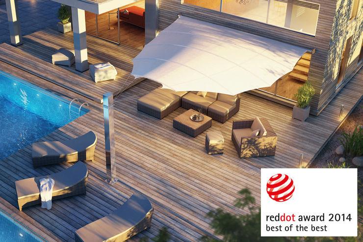 c4sun Sonnensegel derraumhoch3 Balkon, Veranda & TerrasseAccessoires und Dekoration Weiß