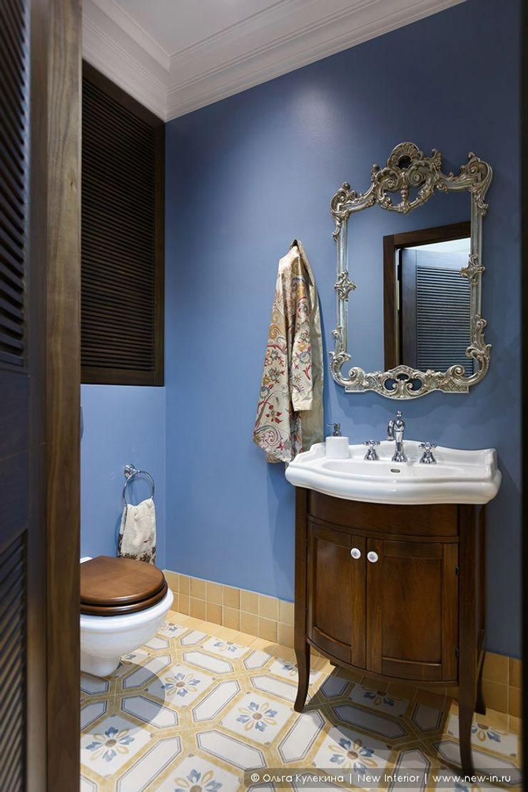 Квартира на Петроградке в колониальном стиле Ольга Кулекина - New Interior Ванная в колониальном стиле Синий