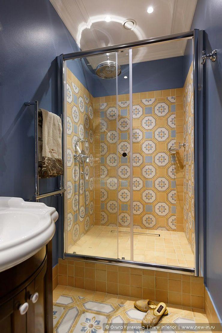Квартира на Петроградке в колониальном стиле Ольга Кулекина - New Interior Ванная в колониальном стиле Желтый