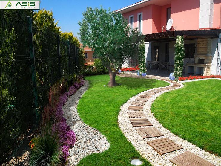 Sultan Konakları Villa Projesi Tasarımı Ve Uygulaması asis mimarlık peyzaj inşaat a.ş. Modern Bahçe