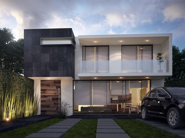 Render arquitectonico. Global Render Balcones y terrazas de estilo minimalista