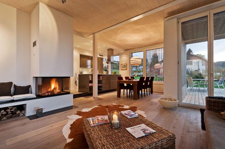 Giesser Architektur + Planung Salones de estilo rural