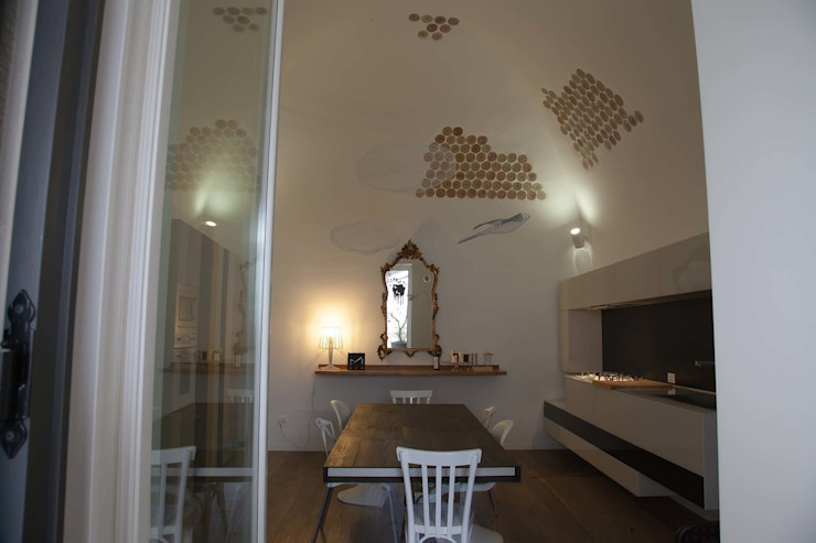 7 levels G/G associati studio di ingegneria e architettura _ing.r.guglielmi_arch.a.grossi Cucina minimalista