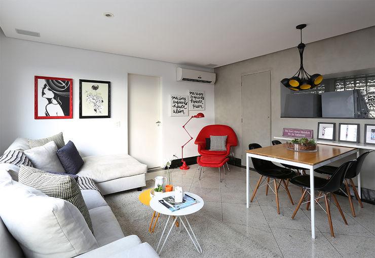 Living e Jantar Duda Senna Arquitetura e Decoração Salas de estar modernas