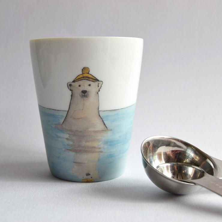 """Tasse à thé """"Ours polaire // bonnet"""" MIDI10 CuisineCouverts, vaisselle et verrerie Porcelaine"""
