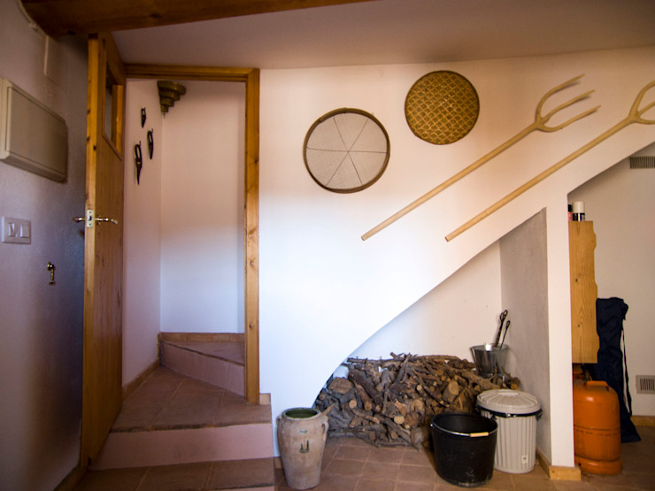 FGMarquitecto Couloir, entrée, escaliers rustiques