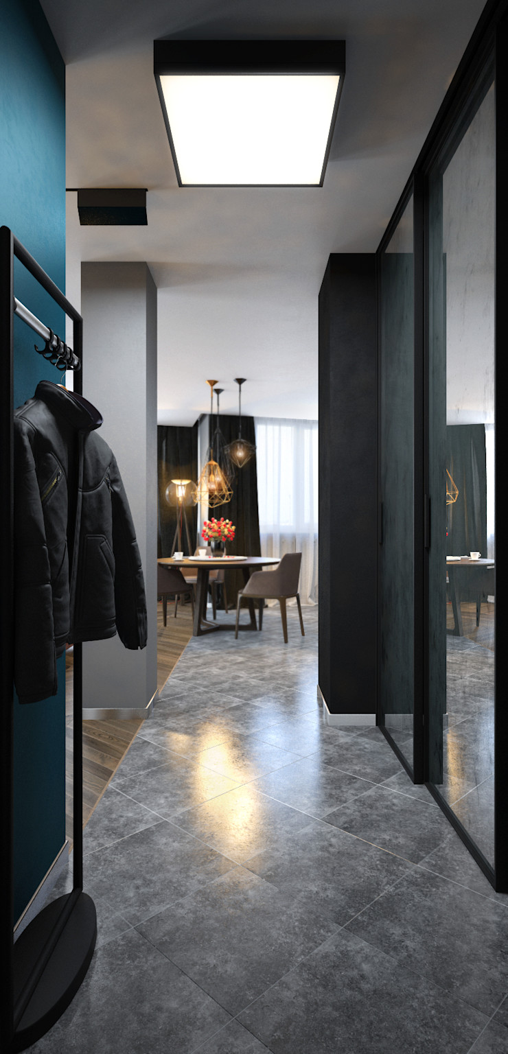 SVAI Studio Eclectic style corridor, hallway & stairs