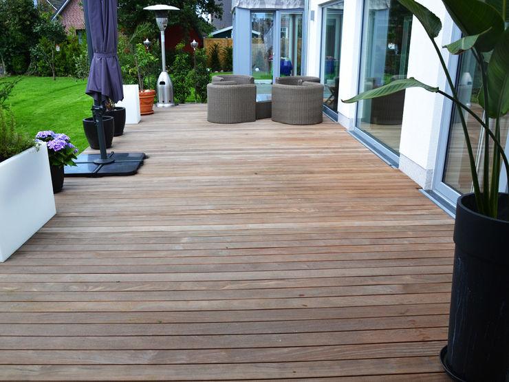 Cumaru Terrassendielen Kahrs GmbH Tropischer Balkon, Veranda & Terrasse