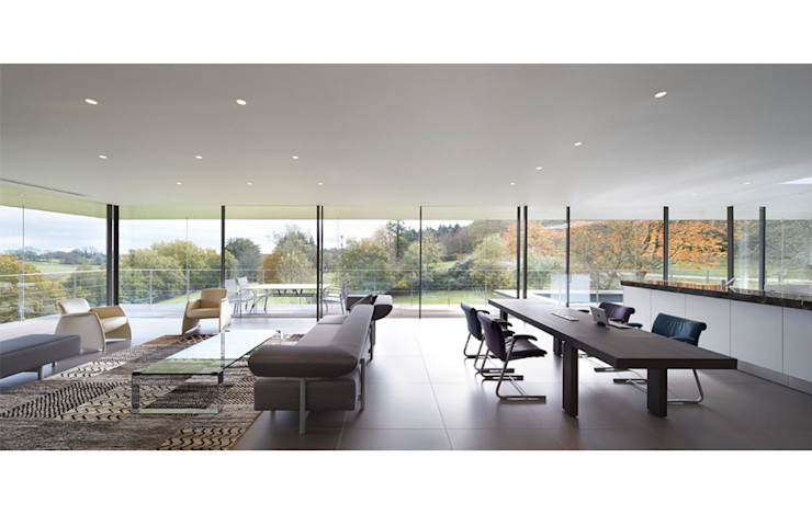 Stone House The Manser Practice Architects + Designers Modern living room