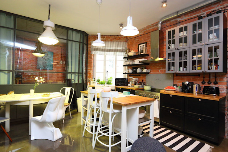 livinghome wnętrza Katarzyna Sybilska Industrial style kitchen