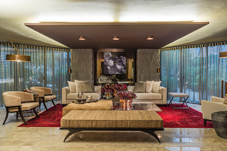 Denise Barretto Arquitetura Living room