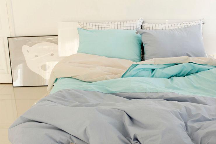 집을 꾸미는 가장 간단한 방법, 패브릭 mushroommate 미니멀리스트 침실