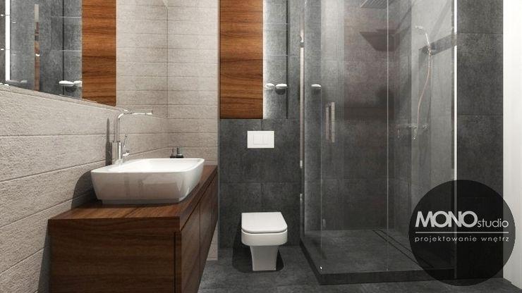 Urocze mieszkanie zaaranżowane w nowoczesnym stylu MONOstudio Nowoczesna łazienka