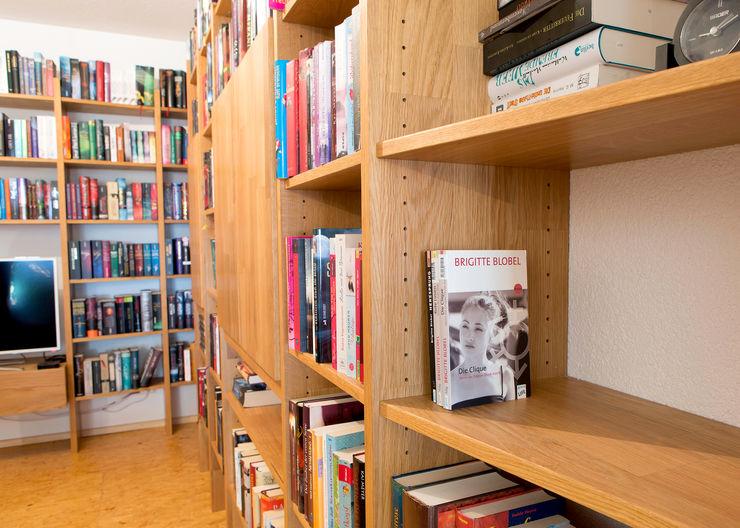 Bücherregal aus Eiche über 90° Ecke! Schreinerei Haas Mathias WohnzimmerRegale