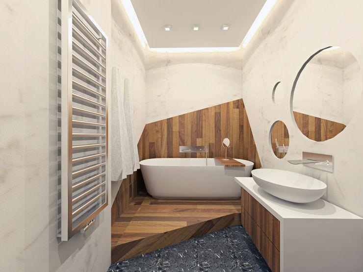 """Квартира в ЖК """"Дирижабль"""" AFTER SPACE Ванная комната в стиле минимализм"""