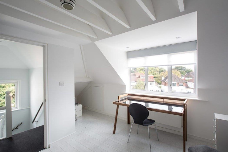 Abbots Gardens, N2 XUL Architecture Scandinavian style study/office