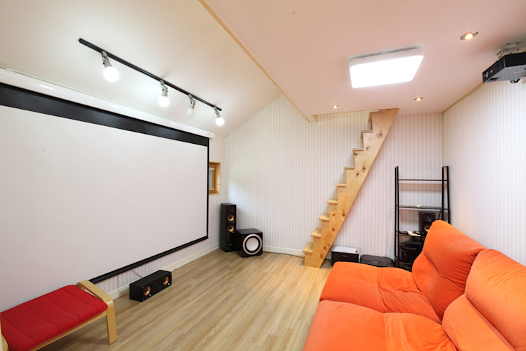 주택설계전문 디자인그룹 홈스타일토토 Modern style media rooms