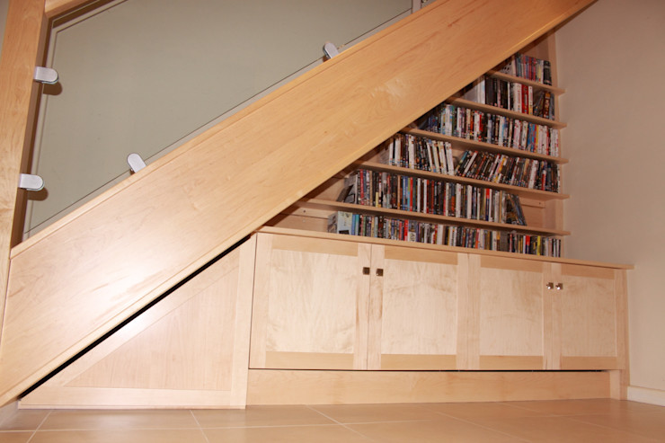 Stair Unit Worsley Woodworking Modern corridor, hallway & stairs
