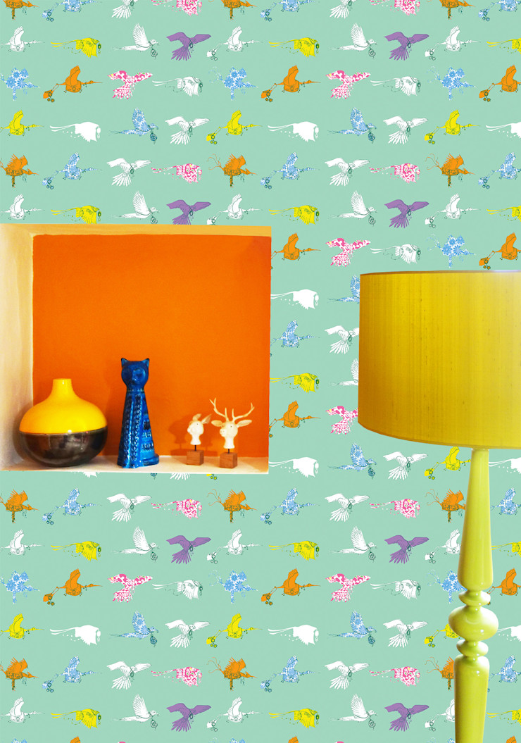 Flying Journey - Wallpaper - Green Sas and Yosh Walls & flooringWallpaper