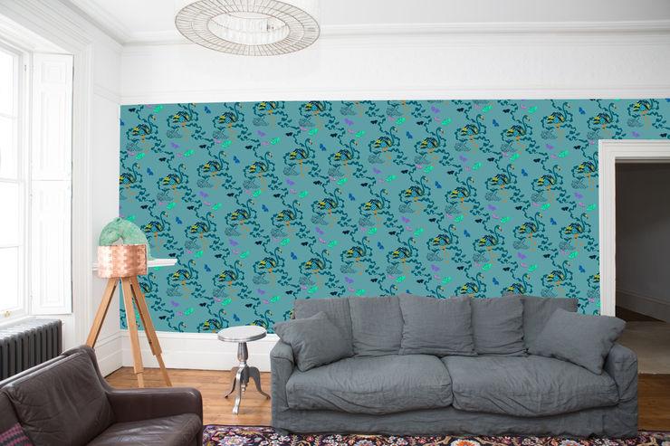 Paradise Parade - Wallpaper - Teal Sas and Yosh Walls & flooringWallpaper