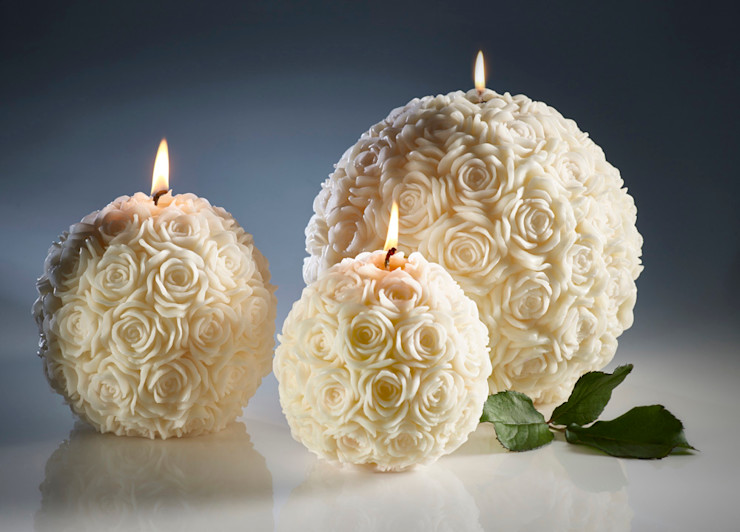Ivory Rose Ball Candles Amelia Candles Living roomAccessories & decoration