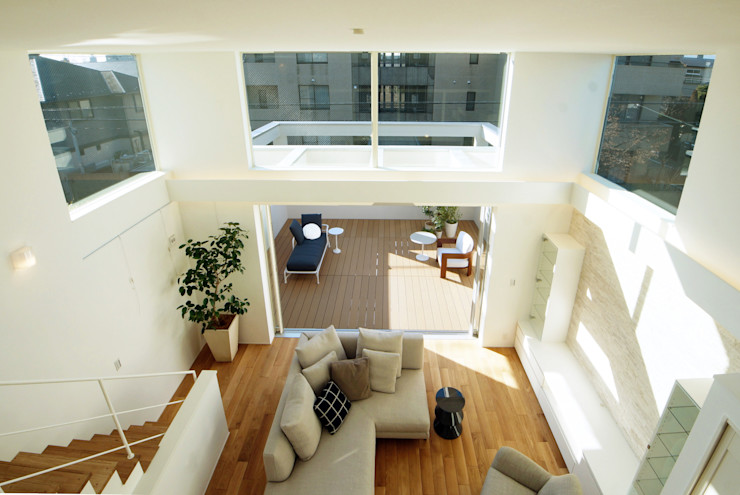 TERAJIMA ARCHITECTS/テラジマアーキテクツ Modern Living Room