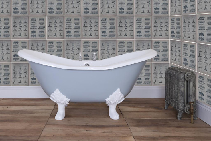 Banburgh Small Double High Slipper Cast Iron Roll Top Bath UKAA   UK Architectural Antiques BathroomBathtubs & showers