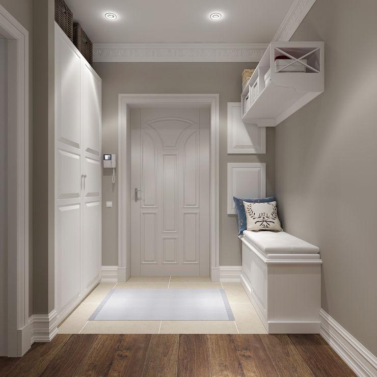Massimos / cтудия дизайна интерьера Classic style corridor, hallway and stairs