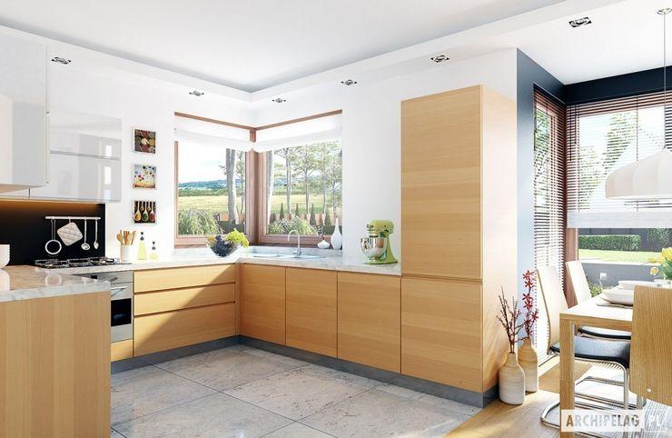 Pracownia Projektowa ARCHIPELAG Кухня в стиле модерн