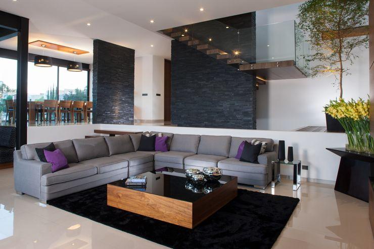 GLR Arquitectos 现代客厅設計點子、靈感 & 圖片