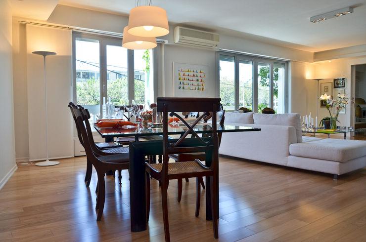 Piso en Palermo 1 & Casa en Libertador GUTMAN+LEHRER ARQUITECTAS Moderne Esszimmer