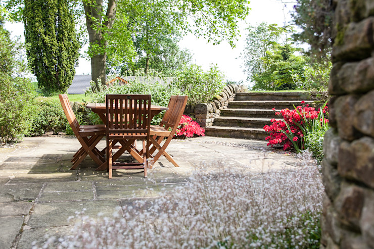 Patio Barnes Walker Ltd Rustic style garden