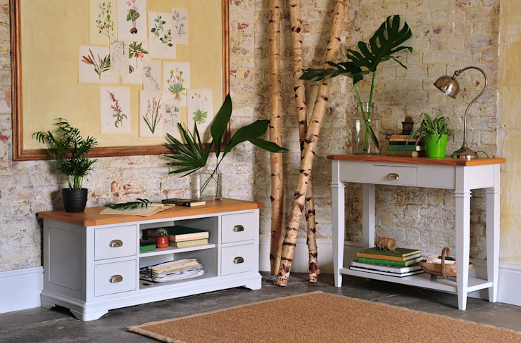 Boston Light Grey Console Table and TV Unit The Cotswold Company Living room