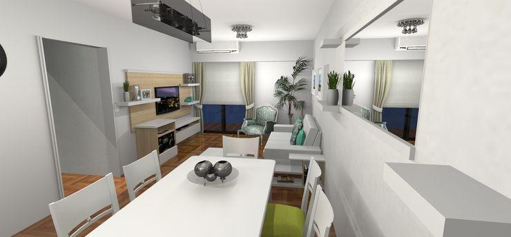 Render 3D - Entrada Muebles del angel Salones de estilo moderno