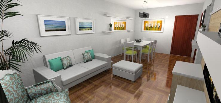Render 3D - Salida Muebles del angel Salones de estilo moderno
