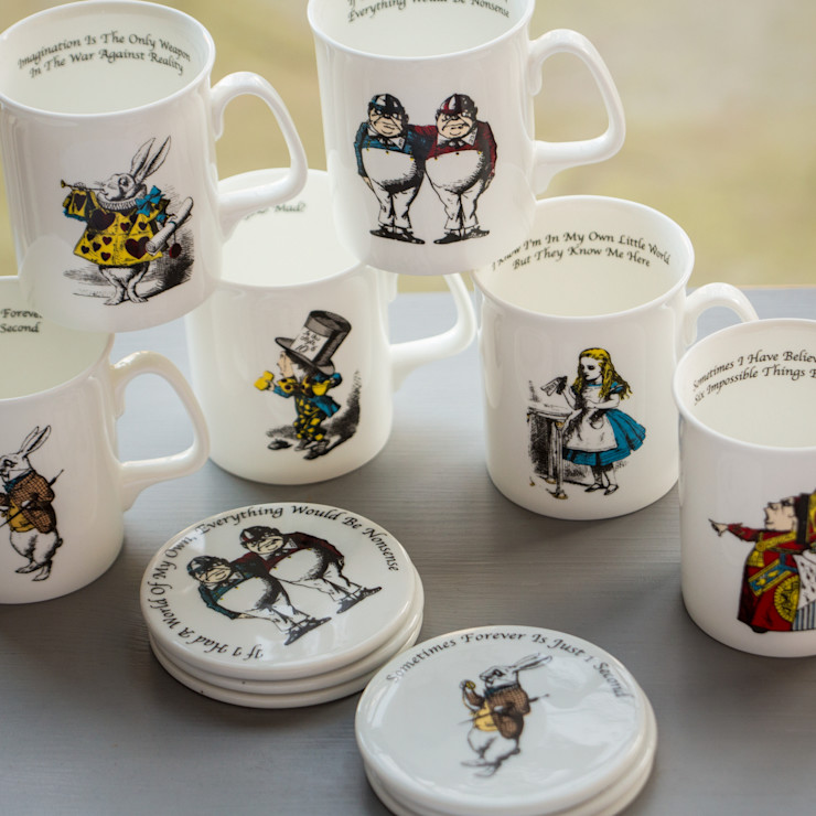 Simply Alice Collection of Mugs and Coasters The Alice Boutique KitchenCutlery, crockery & glassware