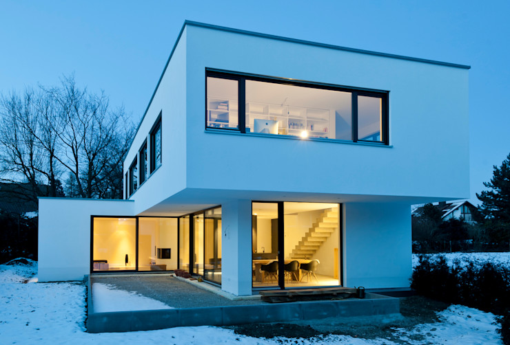 gramming rosenmüller architekten Casas de estilo moderno
